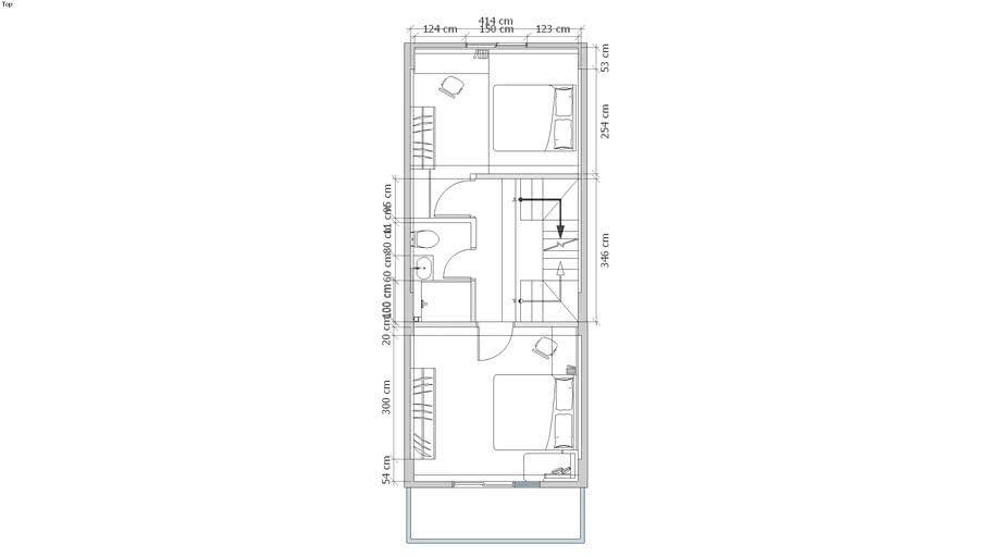國聖一街 正確三四樓平面 2D 3F4F plane
