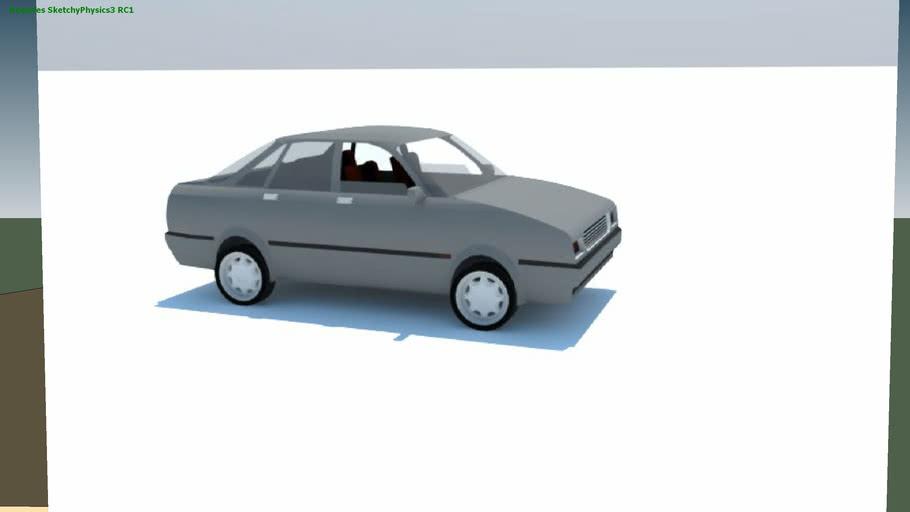 carro sedan - controllable sketchyphysics model