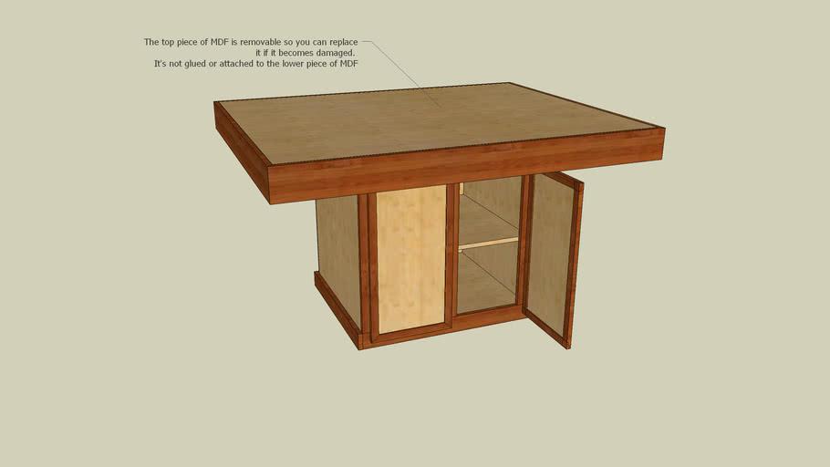 Torsion Box Assembly Table Construction Plans