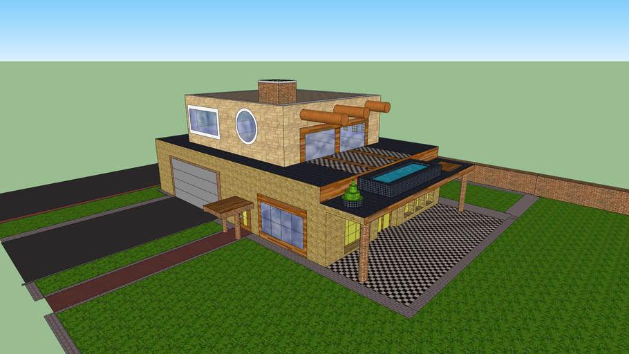 Villa beauty 1a lux jacuzzi sun home garage with modern new garden  casa kuca jacuzzi smed palanka