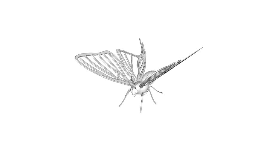 3D Printable Butterfly