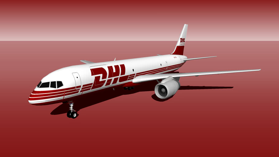 DHL express Boeing 757-23APF Old Logo [A9C-DHL].