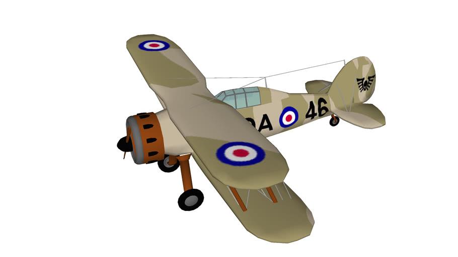 avion de chasse Gloster SS.37 Gladiator