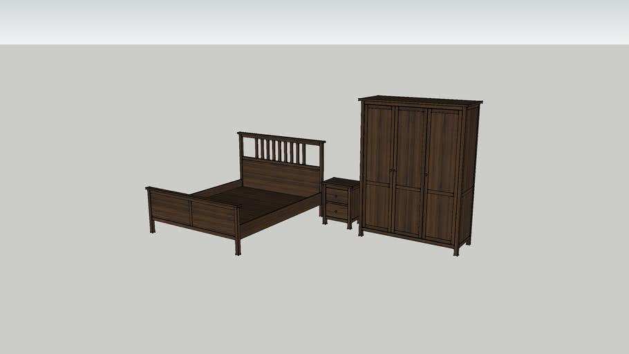 3D Hemnes Bed1