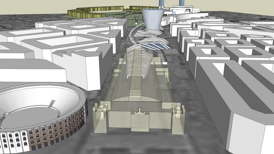"""Neue Architekturentwuerfe Hautbahnhof Valencia  """"Topographie Licht und Schatten"""""""
