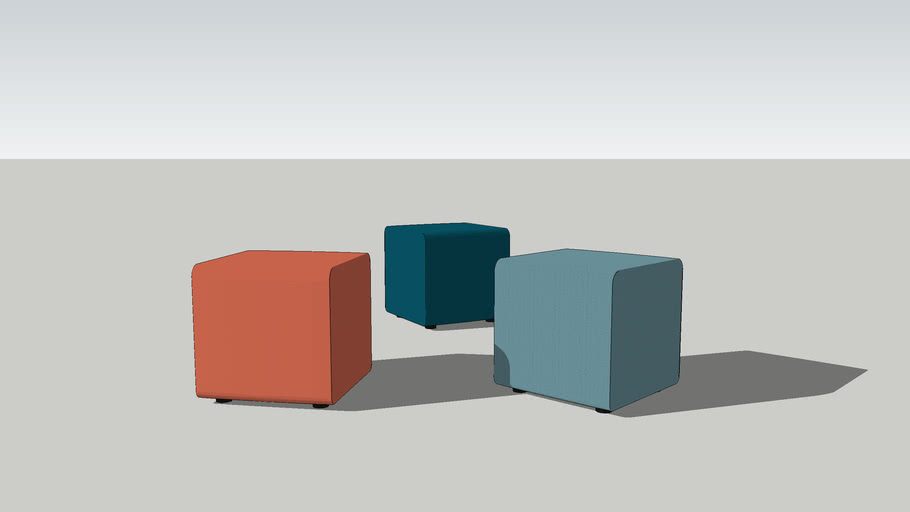 Seating elements - Team pouf, foot stool