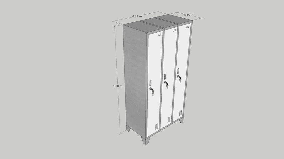 LOCKERS 3 CUERPOS SIMPLES | 3 PUERTAS