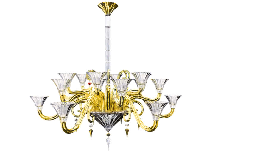 Baccarat-Mille_Nuits_Chandelier_18L__clear_crystal_and_gold_colour_coating