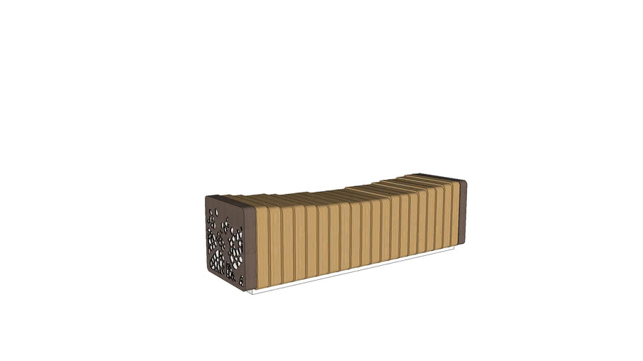 Marshalls Natural Elements - Bench Concave Module with End Facia Panel