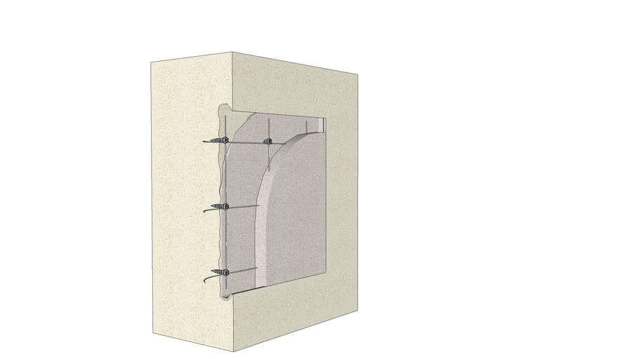 10.410.0502 Composite mortar repair   Small area (1 s.f. ±)