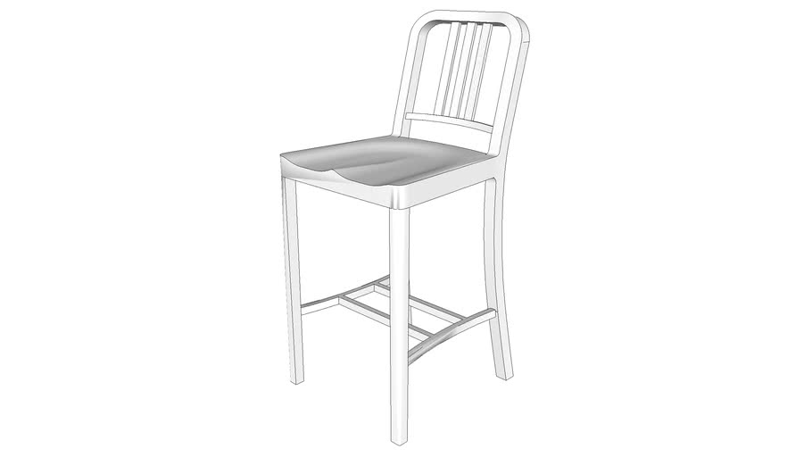Navy Counter Stool by Emeco
