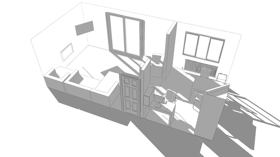 Living room sketch up (Anthonys House)