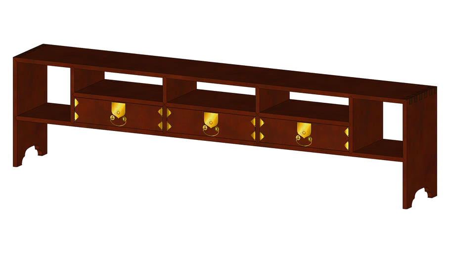문갑 文匣 'MunGaap' Korean Heritage Furniture Staionary Shelf in Joseon Era 19C 3D Artworks