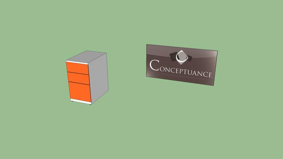 Caisson bureau orange Réf 30501