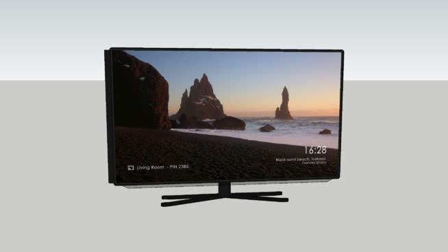 Samsung Tv Met Meubel.55 Samsung Tv 3d Warehouse