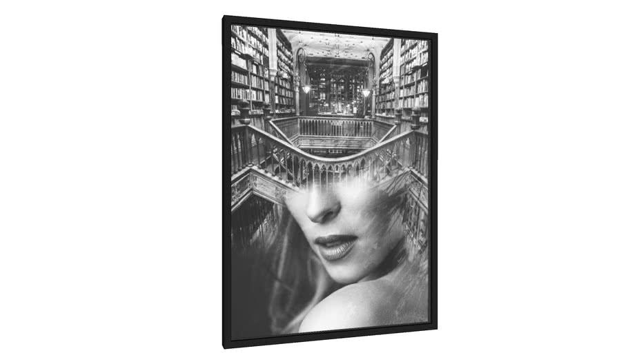 Quadro Girl in the library - Galeria9, por TASStudio