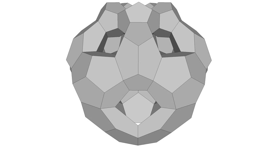 DODECAHEDRON ARRENGED ICOSAHEDRON DEFORMED