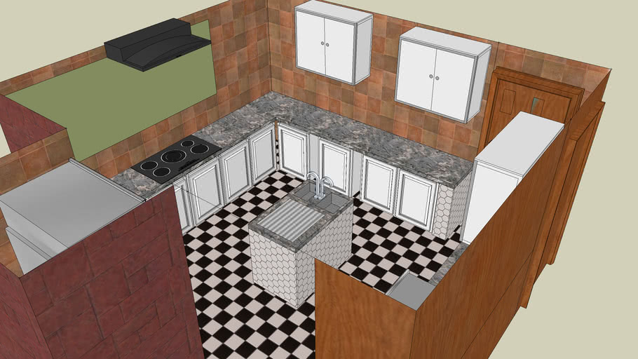 a simple kitchen