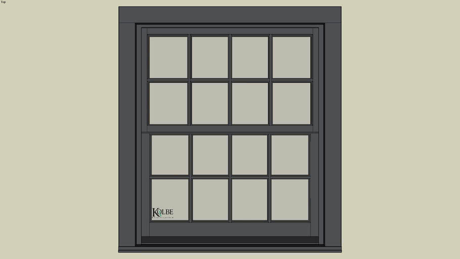 "Kolbe Ultra Sterling Double Hung UDH3620 (F.S. 3'-5 1/2"" x 4'-0 7/16"" R.O. 3'-6"" x 4'-1"")"