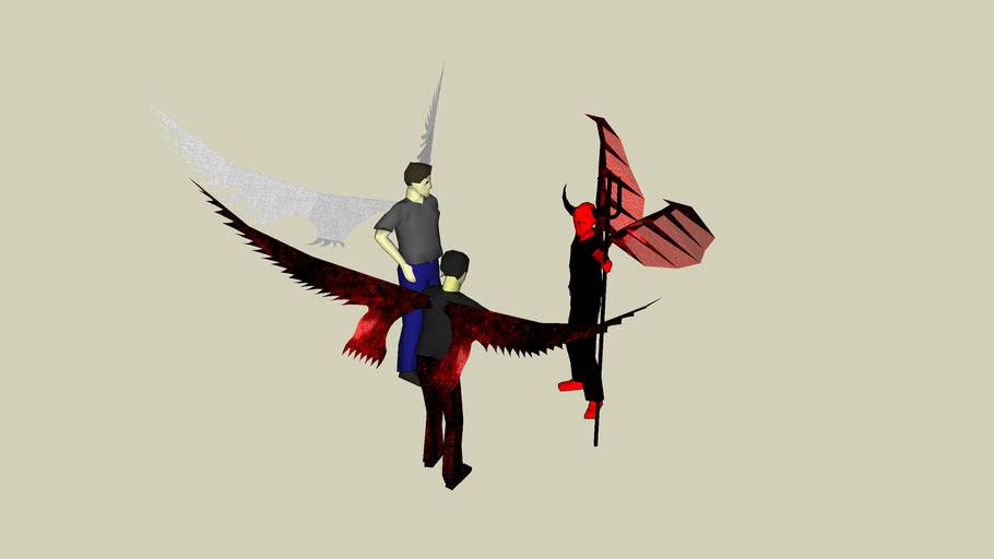 Angel,Devil And Monster