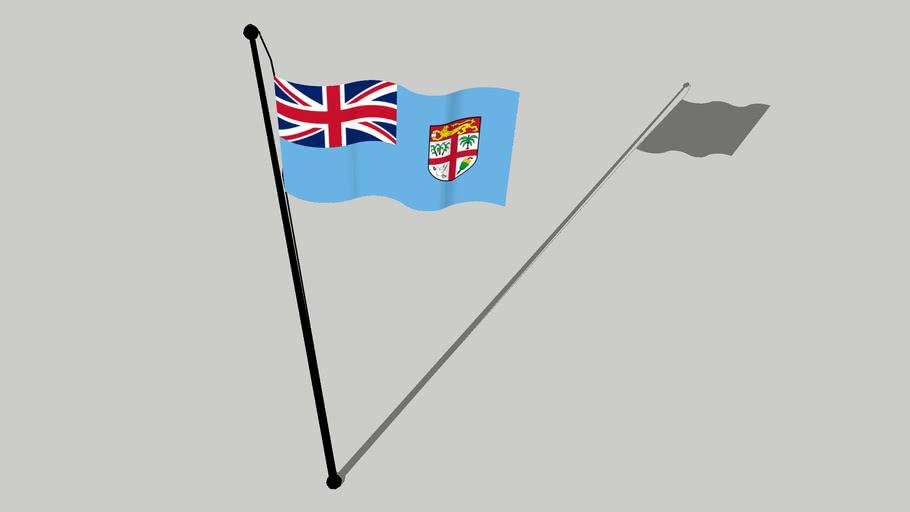 Flag of Fiji - Matanitu Tugalal o Viti - फ़िजी का झंडा