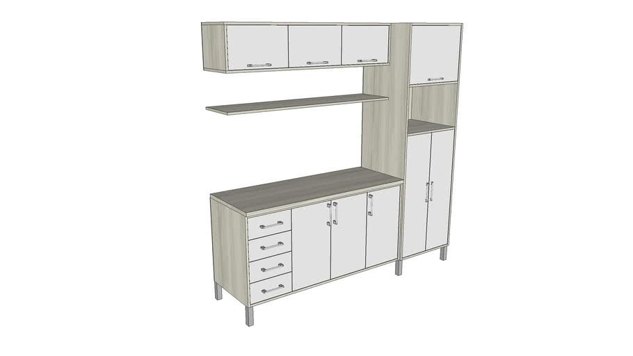 Cozinha Compacta II - Vray Ready