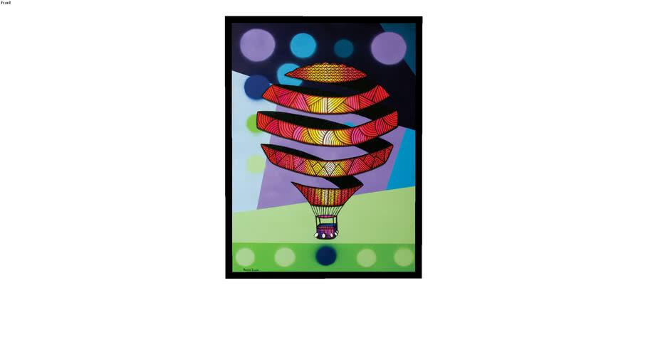 Quadro Retrato Figurativo - Balão Mágico 02, por Adriano Zechini - Galeria Mango Arts