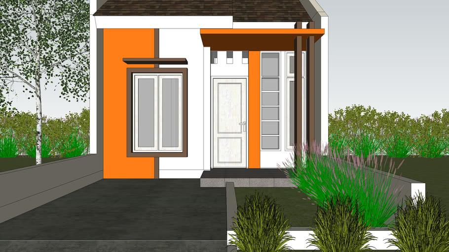 Rumah minimalis tipe 36 orange