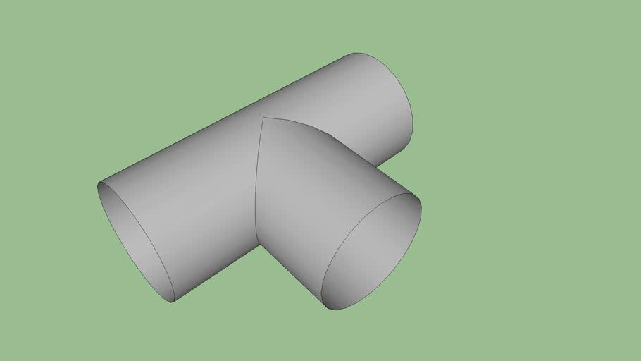 Té égale en PVC 125