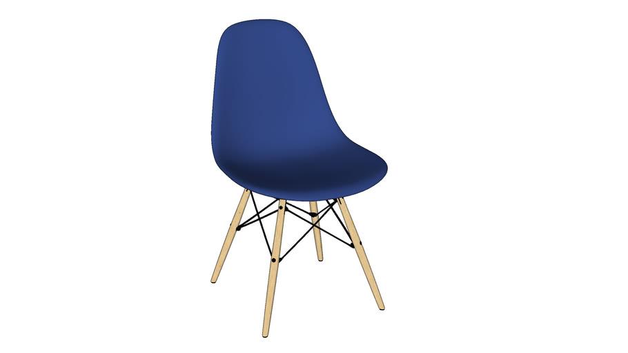 74. silla eames azul