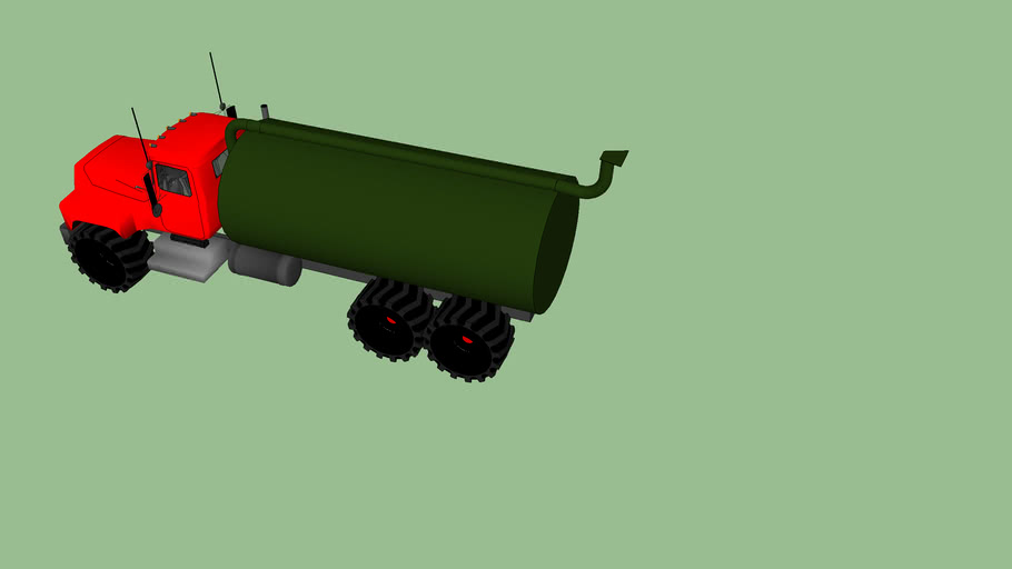 the first liquid manure truck on Sketchup