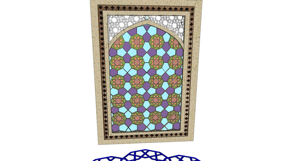 Arabesque Glass Window two different faces
