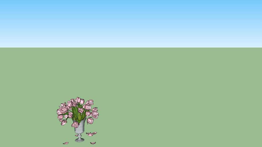 Flowers vase pink