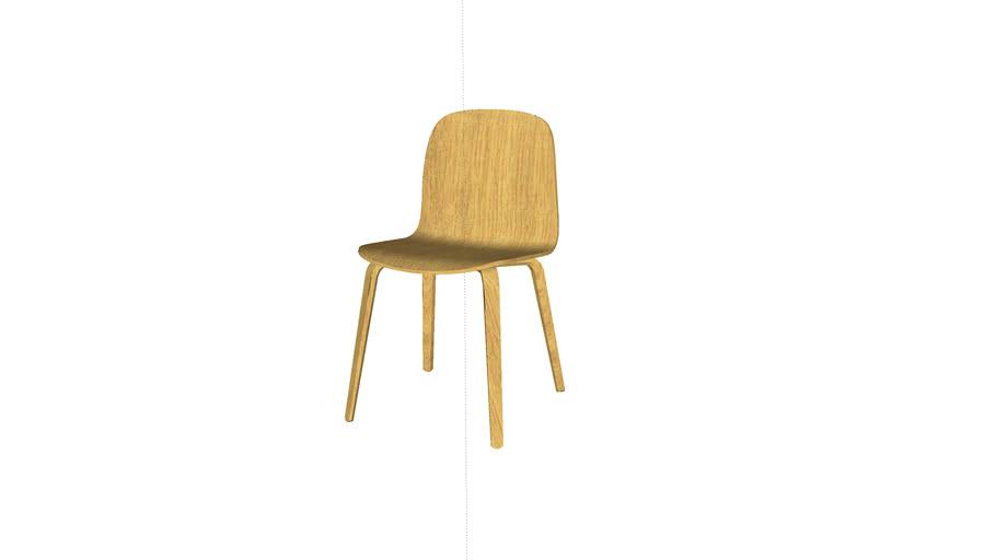 Visu Chair - wood base - by Muuto