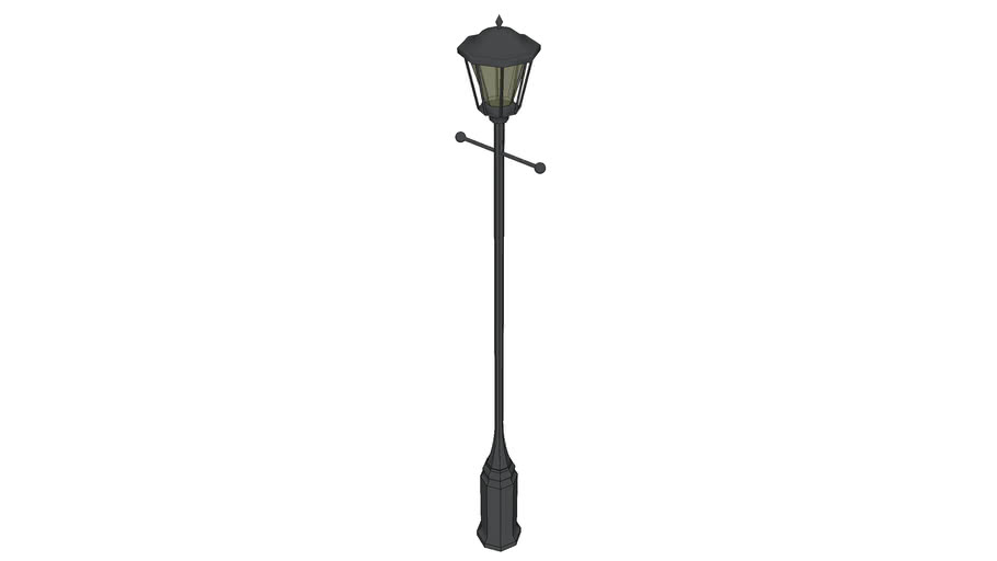 Victorian Wrought Iron Street Lamp - Number 4