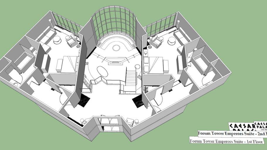 The Hangover Villa Rain Man Suite Caesars Palace Emperors Suite 3d Warehouse