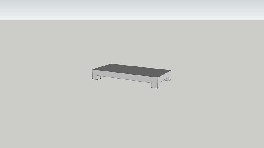 Table basse en beton cire version 2