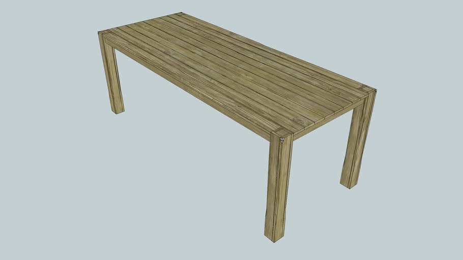 Diningroomtable Rough wood