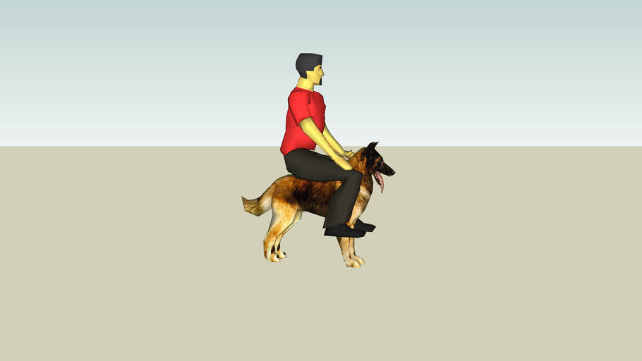 Man Sitting On a dog (lol)