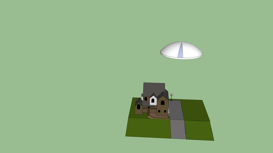 my house and ufo(i was bored)