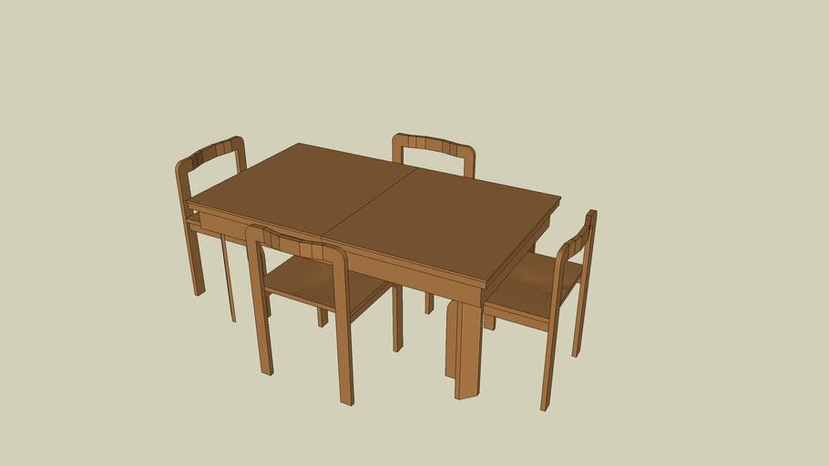 tavolo in legno 140cmx80cm