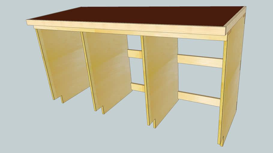 6'/3-bay Workbench