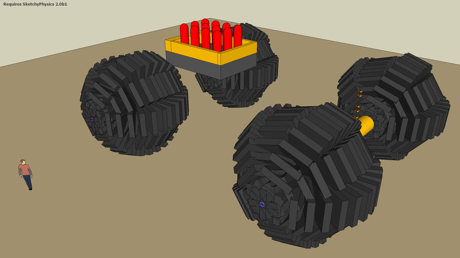 SketchyPhysics Giant All-terrain Vehicle