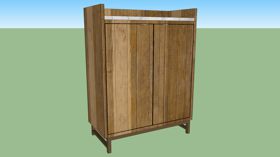 Crate Barrel Cantina Bar Cabinet 3d Warehouse