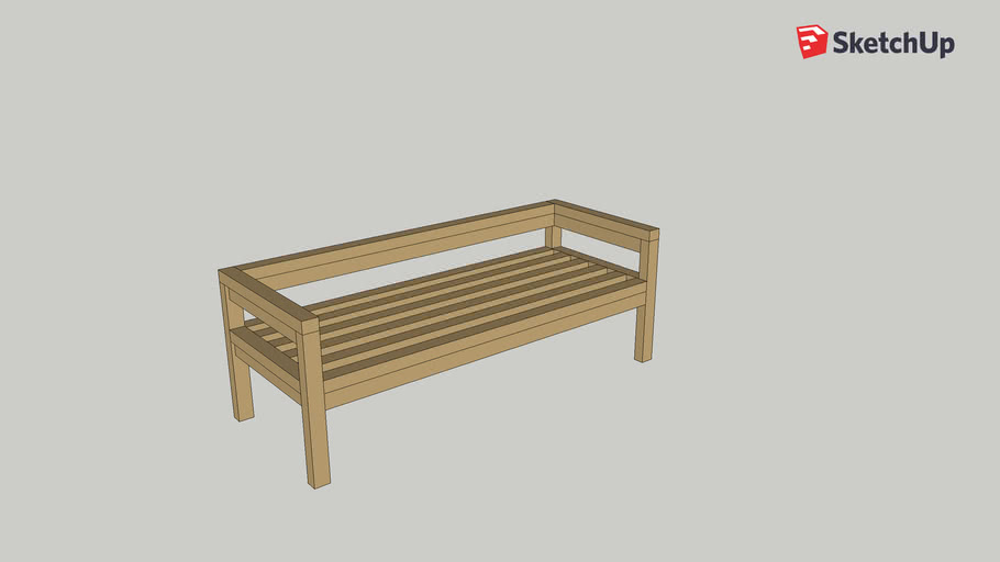 Sectional Garden Bench (adapted from Ana White)