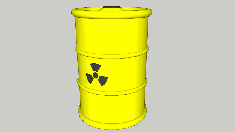 Radioactive Waste Barrel (Yellow)