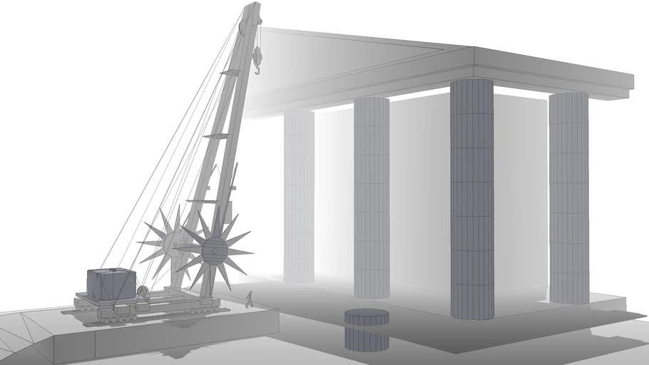 Giannos Ancient Greece - The Parthenon Crane