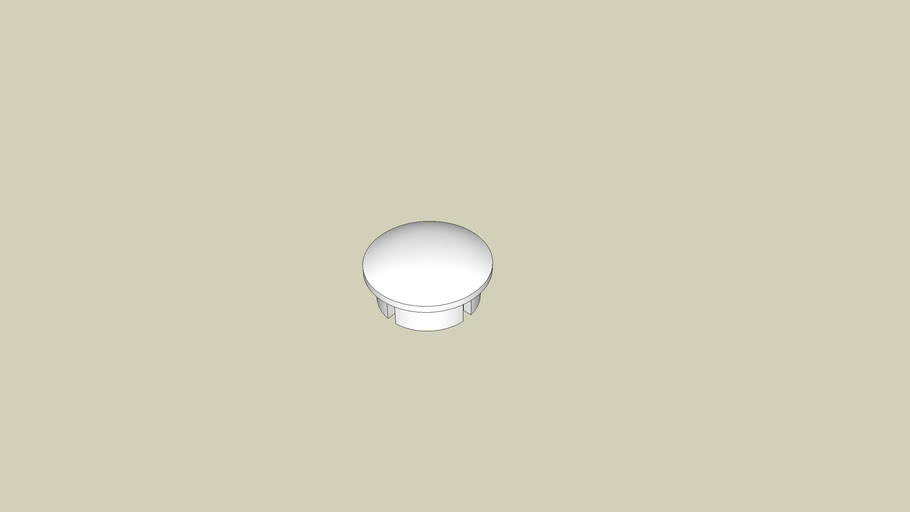 1/2 in. Internal PVC Dome Cap - FORMUFIT