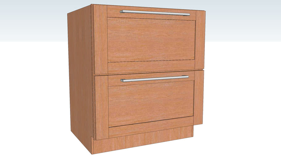 Base Pots and Pans Storage Two Drawer