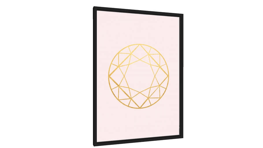 Quadro Diamante dourado II - Galeria9, por Arte Decor